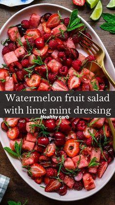 Fruit Salad Recipes, Diet Recipes, Vegetarian Recipes, Cooking Recipes, Healthy Recipes, Fruit Salads, Healthy Snacks, Healthy Eating, Summer Salads