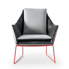 New York Chair Gray Blue, $1,734, now featured on Fab. [Saba Italia]