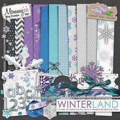 Winterland full kit freebie from Mommyish and Sweet Lilac Studio #digiscrap #scrapbooking #digifree #scrap #freebie #scrapbook