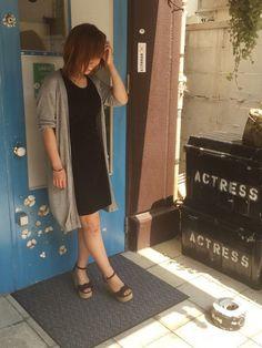 GUのワンピースを使ったショップスタッフ yukiさんのコーディネートです。│久しぶりです。今日も暑いです〜暑すぎ...