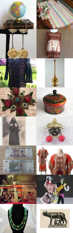WE ARE THE WORLD! Vintage Explosion Weekly Theme Treasury by Dollymae on Etsy--Pinned with TreasuryPin.com