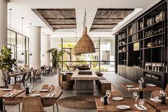 Casa Cook Rhodes, a boutique hotel who brings together a modern take on traditional Greek architecture with a warm, and nomadic style. Bohemian Hotel, Interior Design Blogs, Estilo Interior, Restaurant Design, Deco Restaurant, Modern Restaurant, Casa Cook Hotel, Futuristisches Design, Interior Concept