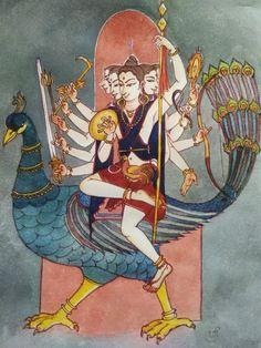 Kali Hindu, Hindu Art, Indiana, Lord Murugan Wallpapers, Lord Shiva Painting, Tanjore Painting, India Culture, Hindu Deities, Indian Gods