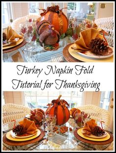 1000 images about thanksgiving dinner on pinterest for How to fold napkins into turkeys