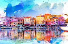 "Saatchi Art Artist Richard White; Photography, ""Cassis, Côte d'Azur"" #art"
