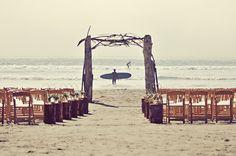 beach wedding ceremony // photo by Erin Wallis