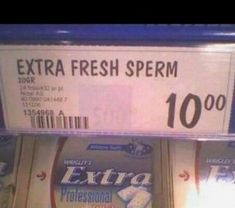 """Saw this today on Ellen on """"What's wrong with these photos? Apparently a grocery sells fresh sperm :) & Funny Texts, Funny Jokes, Hilarious, It's Funny, Job Fails, You Had One Job, Getting Fired, Lol, Whats Wrong"""