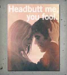 Headbutt Print - Happy Valentine's and stuff.