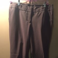 Like new brown slacks Gorgeous brown checked pants.  Barely worn.  Straight leg.  Polyester/rayon blend.  Lightweight enough for summer.  Inseam is 30 inches. Worthington Pants Trousers