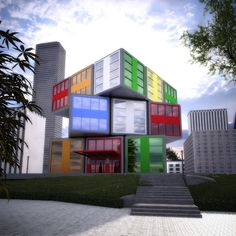 The Rubik's Cube - Office Building.