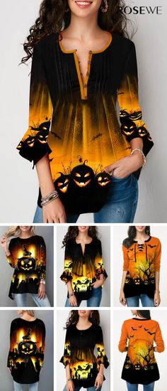 Halloween tops for women 2019 - Halloween tops for women off 2 items, off over 4 items, code: FALL. Halloween Tops For Women, Mode Halloween, Halloween Outfits, Halloween Makeup, Halloween Dress, Fall Halloween, Fall Outfits, Diy Fashion, Fashion Dresses