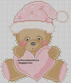 First christmas cross stitch Cross Stitching, Cross Stitch Embroidery, Embroidery Patterns, Cross Stitch Heart, Cute Cross Stitch, Baby Cross Stitch Patterns, Cross Stitch Designs, Kids Patterns, Canvas Patterns