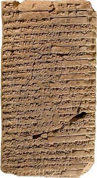 The Instructions of Shuruppak, one of the earliest surviving literary works, is a Sumerian wisdom text. This was a genre of literature common in the Ancient Near East intended to teach proper piety, inculcate virtue and preserve community standing. Read more: http://www.historyofinformation.com/expanded.php?id=1607