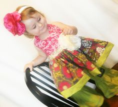Girls Halter Swing Top Custom Boutique Sizes 3m  by Little4Awhile, $48.00