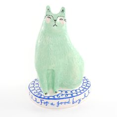 Peppermint Patty Cat by Vicky Lindo Ceramics.  https://www.facebook.com/vickylindoceramics