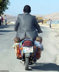 Motorcycle safety.... this isn't it. This cracked me up...Kim