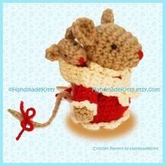 Mommy mouse and Baby mouse Amigurumi PDF Crochet von handmadekitty