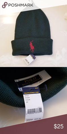 3fc668b20a48f Polo Ralph Lauren hat Hunter green logo is rasberry 1  20 - 2  35