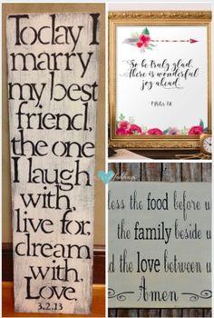 Pensamientos para Invitaciones de Boda. Frases religiosas para tu boda | Pensamientos de boda bíblicos imprimible. Wedding quotes Bible verse | Cartel para bodas con pensamientos religiosos - Wood Sign Religious Quote
