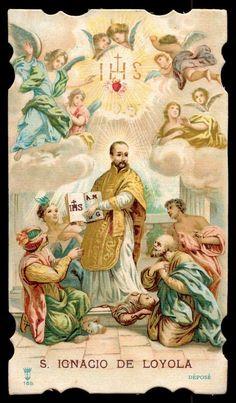 St Ignatius of Loyola Old Holy Card | eBay