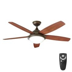 Home Decorators Collection Gramercy 52 in. LED Indoor Espresso Bronze Ceiling Fan with Light Kit and Remote Control - The Home Depot Black Ceiling Fan, Bronze Ceiling Fan, Best Ceiling Fans, Brushed Nickel Ceiling Fan, Japanese Home Decor, Traditional Lighting, Ceiling Decor, Do It Yourself Home, Led