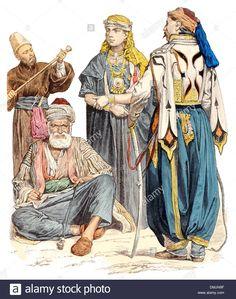 19th-century-xix-1800s-left-to-right-a-dervish-syrian-man-druze-woman-DMJN9F.jpg…