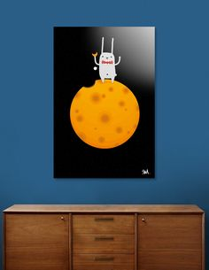 Discover «My Planet_Cheese Moon», Exclusive Edition Aluminum Print by seok won Kim - From $59 - Curioos