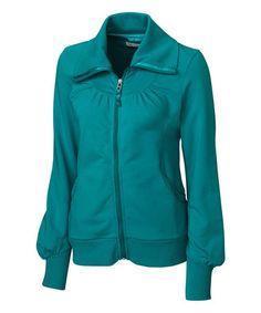 Look at this #zulilyfind! Aqua Vancouver Full-Zip Jacket - Plus Too #zulilyfinds