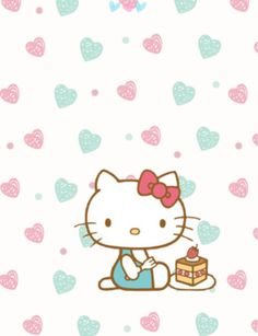 Image discovered by Find images and videos about kawaii, cake and kitty on We Heart It - the app to get lost in what you love.