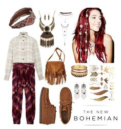 """The New Bohemian with American Eagle Outfitters: Contest Entry"" by parcocafe ❤ liked on Polyvore"