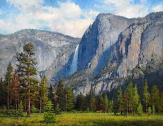 Yosemite Falls: Original oil landscape painting art of Yosemite National Park by Prix de West Award winning artist and painter Jim Wilcox