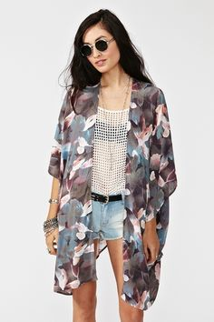 floral drape jacket