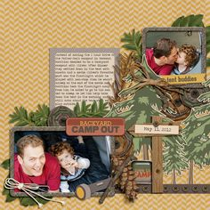 Super cute camping page by @Megan Ward W | Roughing It kit from peppermintcreative.com