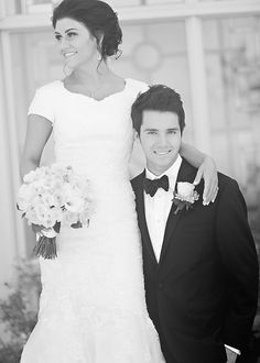 Classic Sophistication - Modest Wedding Gown #themodestbride http://www.pinterest.com/modestbride/boards/