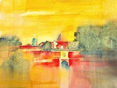 'Jülicher Zitadelle' von Andrea Fettweis bei artflakes.com als Poster oder Kunstdruck $19.41
