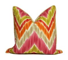 Vibrant Chevron Pillow.