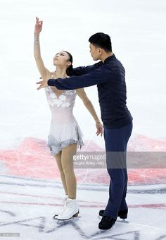 News Photo : Xiaoyu Yu and Hao Zhang of China compete in the...