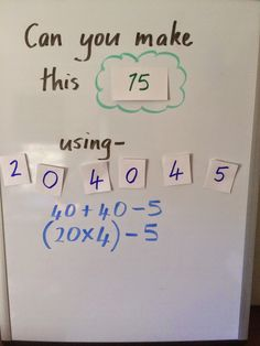 Try this simple math challenge with students. Easy to prepare but will really make them think!