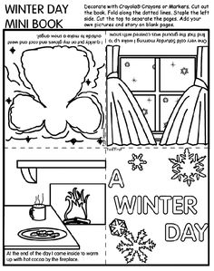 Unique Crayon Coloring Pages 74 Winter Day Mini Book