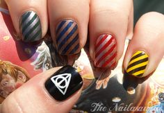 The Nailasaurus: 'I've had enough trouble for a lifetime' (Harry Potter Nail Art)