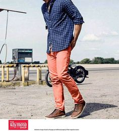 Look impeccable in our latest casual wear collection !  Shop this look TODAY at The Raymond Seconds Shop - Paldi :)  #Ahmedabad #Shirts #Pants #Chinos #Collection #Raymond #Casualwear #NewArrivals