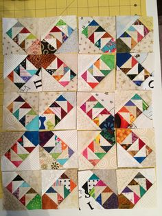 WILD AND GOOSEY BLOCKS IN NEUTRALS - PATTERN FROM QUILTMAKER BY BONNIE HUNTER