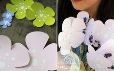 DIY Flower Invitations Part 1  Freebie: http://kukuwaja.blogspot.de/p/freebie.html