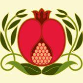 Pomegranate Fabric - Pomegranate Pillow Custom Fabric By Cindylindgren - Pomegranate Fabric with Spoonflower