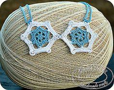 Snowflake Inspired Necklace - Free Crochet Pattern by @divinedebrisweb | Featured at Divine Debris - Sponsor Spotlight Round Up via @beckastreasures | #fallintochristmas2016 #crochetcontest #spotlight #crochet #roundup