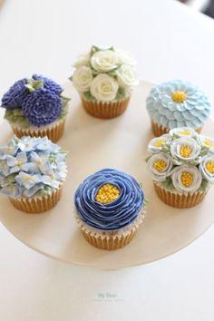 [컵케익] 플라워 컵케이크 3종 : 네이버 블로그
