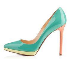 PIGALLE PLATO PATENT,AQUAMAR,Patent,Louboutin,Women Shoes spring summer 2014