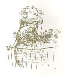 ilustração de Maria Keil ------O Cantar da Tila (Matilde Rosa Araújo),1967