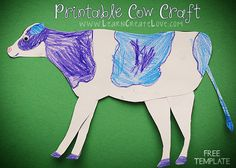 Printable Cow Craft