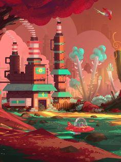 Factory by Ullbors | Sci-Fi | 2D | CGSociety